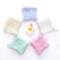 30*30cm Muslin Organic Cotton Scarf Swaddle Baby Bath Towel Newborn Handkerchief