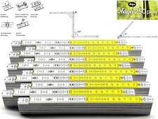 10x ADGA Profi Zollstock 2m Holz Winkelskala 90° Rastung gelbe Dezimeterfelder