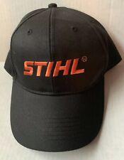 STIHL OUTFITTERS APPAREL BASEBALL CAP HAT, BLACK SNAPBACK, GENUINE, NEW