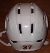 PHOENIX COYOTES Raffi Torres worn Easton S19 road white helmet 2011 preseason