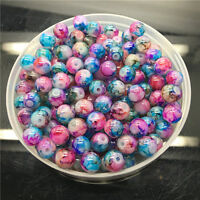4mm 100Pcs Double Color Glass Pearl Round Spacer Loose Beads Jewelry Making 4#11