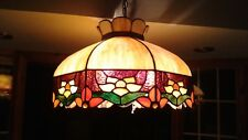 Tiffany Style Vintage Stained Glass Hanging Fixture