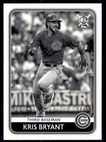 2020 Big League Base Black & White #160 Kris Bryant /50 - Chicago Cubs