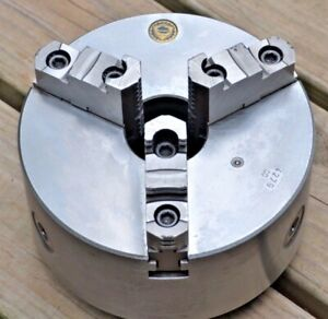"""Bison 8"""" Three Jaw Self Centering Lathe Chuck W Backing Plate South Bend Logan"""