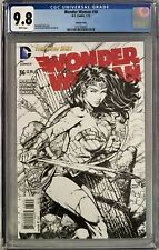 Wonder Woman (2015) #36 CGC 9.8 David Finch 1:50 Incentive Sketch Variant Cover!