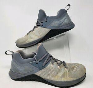 Nike Metcon Dsx Flyknit 3 Cool Grey Black Training Shoes AQ8022-002 Men Size 12