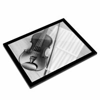 A3 Glass Frame BW - Classical Violin Music Cool  #38593
