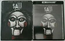 SAW 4K ULTRA HD BLU RAY 2 DISC SET + SLIPCOVER SLEEVE FREE WORLDWIDE SHIPPING