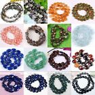 Flat Oval Round Coin Natural Gemstone Loose Beads Charm Jewelry Findings DIY