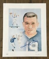 JOHNNY UNITAS Signed Autographed Football 12x15 Photo Print JSA EE09443 Colts