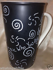 STARBUCKS COFFEE MUG 2010 EMBRACE WHO YOU ARE MUG 20 OZ BLACK & WHITE KINDNESS
