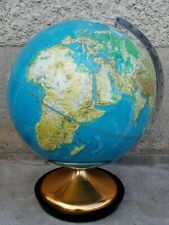 ancien globe terrestre RELIEF design 1971 GRANGE BATELIERE