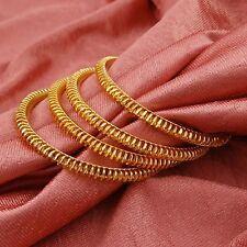 Traditional 18K Gold Plated 4Pc Bangles Indian Women Wedding Ethnic Jewelry 2*6