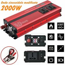 Power Inverter 2000W DC 12V To AC 220V USB Modified Sine Convertitore Sortstart@