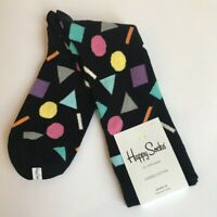 Happy Socks Men's Geometric Shapes Combed Cotton Socks 10-13 NWT $14