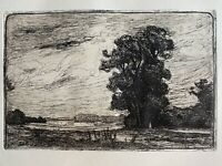 Angèle Delasalle gravure eau forte etching Paysage  A Montigny Beauchamp