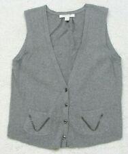 Sweater Vest Banana Republic Gray Cotton Nylon Rabbit Cardigan Solid Size Small