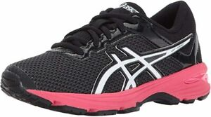 ASICS Kid's GT-1000 6 GS Running Shoe, Dark Grey/White/Rouge Red, 1.5 M US