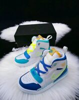 8C Nike air Jordan LEGACY JUST FLY 312 TODDLER white / blue CI4451 Basketball