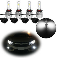 9005 9006 Combo LED Headlight Kit Fog Light Bulbs High Low Beam 6000K
