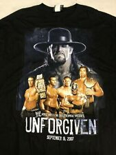 Wwe Wrestling Unforgiven 2007 Ppv T-Shirt Black 3Xl Undertaker The Great Khali