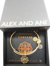 Alex and Ani COMPASS III Expandable Wire Bracelet Rafaelian Gold NWTBC