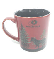 Mossy Oak Wolf In The Woods Red Ceramic Coffee Cup Beverage Mug- Large