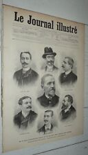 JOURNAL ILLUSTRE 1896 JUGE MEYER AFFAIRE MAX LEBAUDY / REPUBLIQUE / LOUBET SENAT