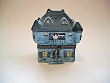 Peint Main Limoges Trinket-Halloween Haunted House