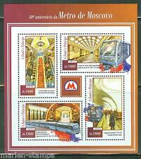 SAO TOME 2015 80th ANNIVERSARY OF THE MOSCOW METRO SHEET MINT NH
