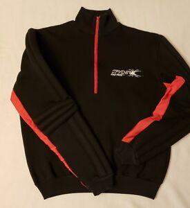 Vintage 1980's SPYDER RAD PADS Ski Racing Half Zip Black Knit Pullover - Size L