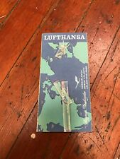 Lufthansa Airlines Germany Route Map Vintage