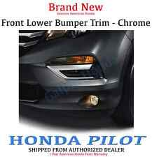 Genuine OEM Honda Pilot Chrome Front Bumper Trim 2016 - 2018     (08F23-TG7-100)