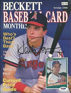 Wally Joyner Signed 1986 Baseball Beckett Magazine PSA/DNA COA Angels Autograph