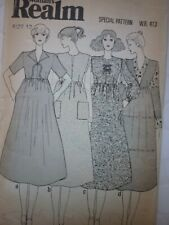 UNCUT VINTAGE 1970'S MIDI SMOCK DRESS OR PINAFORE DRESS SEWING PATTERN