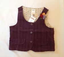 NWT Gymboree AUTUMN HIGHLANDS fall dark purple wide cord corduroy vest