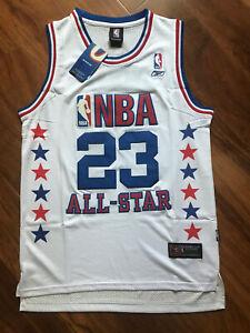 New Men's 2003 NBA All Star Game Michael Jordan White Jersey Size S-XXL