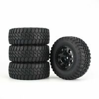 4pcs AUSTAR 110mm Rim Rubber Tire Wheel for Traxxas Slash 4X4 RC Crawler Car