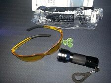 Leak Detector A/C Fluid Gas 2 pc set 21 LED UV Black Light  & Safety Glasses