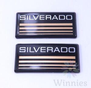 Chevy Suburban Cab Emblem USED 2pc Silverado Badge Logo Roof Pillar 84 85 86 87