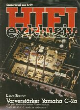 Yamaha Katalog Prospekt HiFi Exklusiv Sonderdruck C-2a
