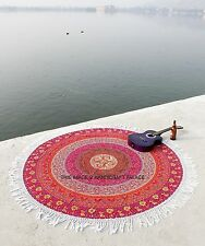 Indisch Rund Mandala Wandbehang Tapisserie Tagesdecke Strandtuch Yoga Matte Neu