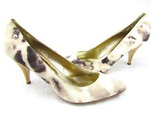 $430 JUST CAVALLI BY ROBERTO CAVALLI Art Abstract Canvas Pumps Heels Italy 11 41