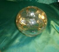 Vintage 70er altes Lampenglas Bubble Glas bräunlich Lampenschirm Lampeneinsatz