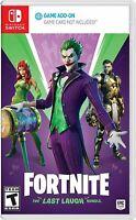 Fortnite: The Last Laugh Bundle - Nintento Switch DC Joker Epic Games Brand New