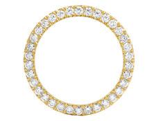 14K Yellow Gold U Shape Prong Diamond Bezel for Rolex 40MM/ 41MM Watch 5.1 Ct