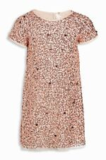Next Pink Sequin Shift Party Dress Age 10 Years Bnwt
