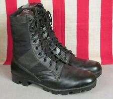 Vintage US Army Military Black Leather Combat Boots General Issue Sz.11 Tropical