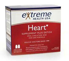 Extreme Health Oral Chelation Heart Detox Supplement Artery Cleansing 2 btl set