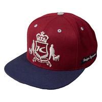 King Starter Black Label Dappa Maroon Navy Snapback Hat Cap